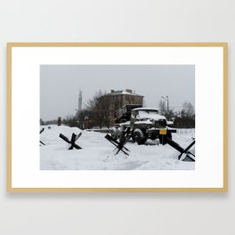 Echoes of the Ongoing Riot Framed Art Print
