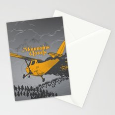 Mountains Hide in Clouds II - Gray Stationery Cards