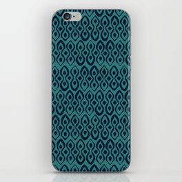 brocade indigo blue iPhone Skin