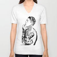 stephen king V-neck T-shirts featuring Stephen by christinabrunette