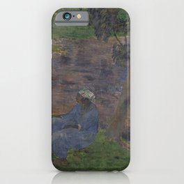 Paul Gauguin - On the Banks of the River at Martinique (1887) iPhone Case