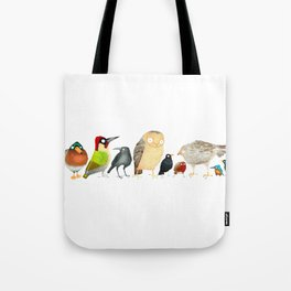 Woodland Bird Collection in white Tote Bag