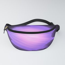 Abstract purple energy ball on black background. Fanny Pack