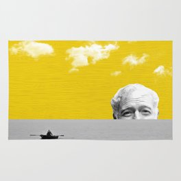 Ernest Hemingway | Old man and the Sea | Digital Collage Art Rug