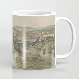 Vintage Pictorial Map of Easton PA (1862) Coffee Mug