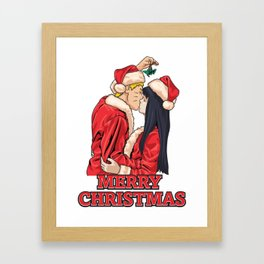 A NaruHina Christmas Framed Art Print