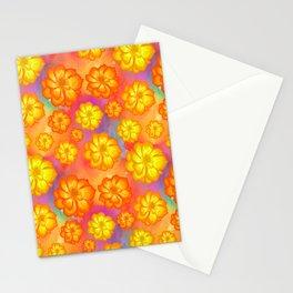 Marigols Floral Pattern Stationery Cards