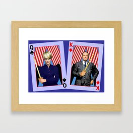 Frank and Claire - An Odd Pair Framed Art Print