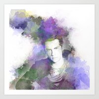 stiles Art Prints featuring Stiles by NKlein Design