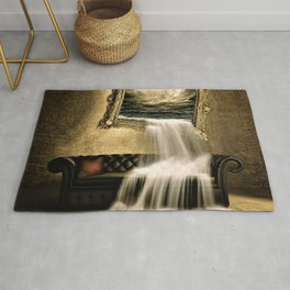 Portal to the Ocean in your Living Room Surrealism Portrait Rug