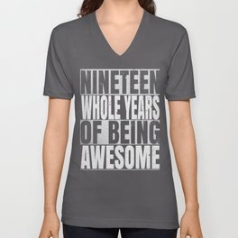19 Years Old 19th B-Day Vintage Retro Gifts Unisex V-Neck