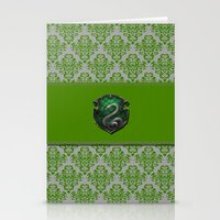 slytherin Stationery Cards featuring Slytherin House by Sarah and Bree