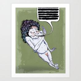 Shit Talker Art Print