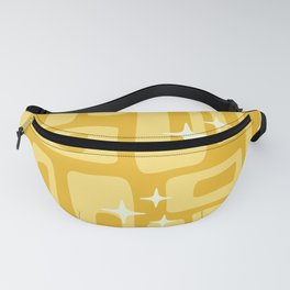 Retro Mid Century Modern Abstract Pattern 127 Yellow Fanny Pack