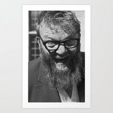 weird. beard. Art Print