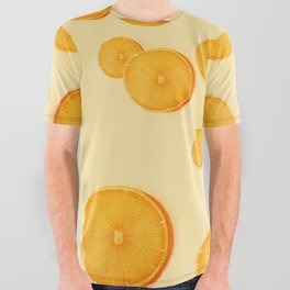 Orange and Banana Simple Design All Over Graphic Tee