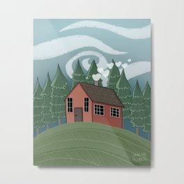 Home Is Where The Heart Is Metal Print