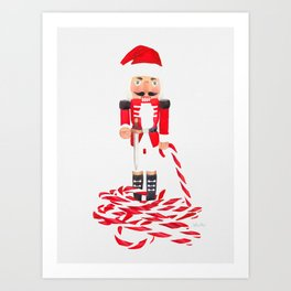 Nutcracker Cane Art Print