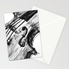 Black Violin Stationery Cards