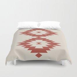 Southwestern Minimalism - Scarlet Red Duvet Cover