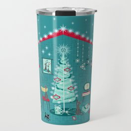 Retro Holiday Decorating ii Travel Mug