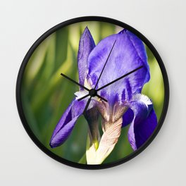 BLUE LILLY Wall Clock