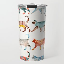 Cat Collection: Watercolor Travel Mug