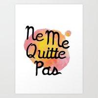 Ne Me Quitte Pas Watercolor Art Print