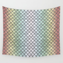 New Rainbow Mermaid Scales Wall Tapestry