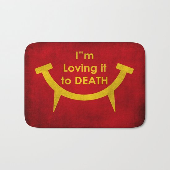 McViper the zombie and vampire fast food chain, Bloody good food is our motto! Bath Mat