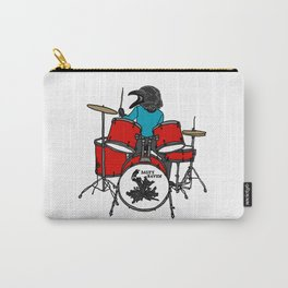 Salty Raven Drummer from Flock of Gerrys Carry-All Pouch