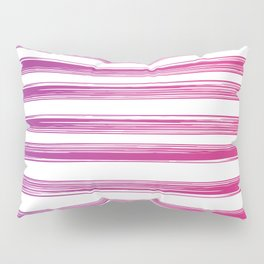Drawn Lines Purple to Pink Ombre Pillow Sham