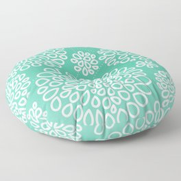 Peppermint Dandelions Floor Pillow