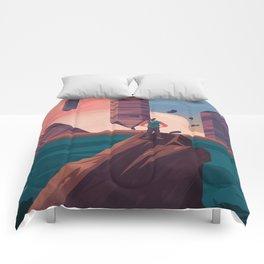 Oniric landscape Comforters