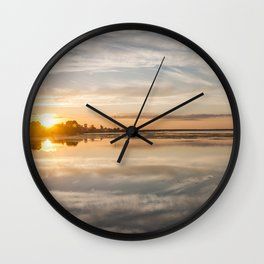 Baltic sea and sunset Wall Clock