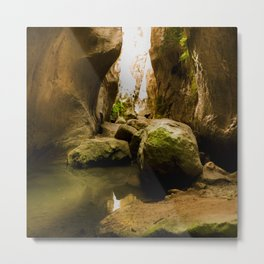 ISLAND STORIES 24 - Gorge Nature Landscape Metal Print