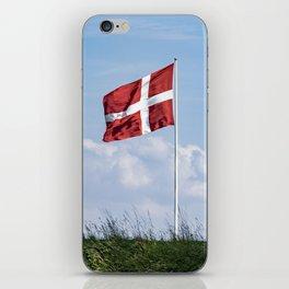Dannebrog in the wind (Danish national flag) iPhone Skin