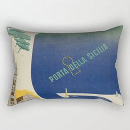 Messina port of Sicily Rectangular Pillow