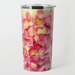 Ruby Tuesday Hydrangea Travel Mug