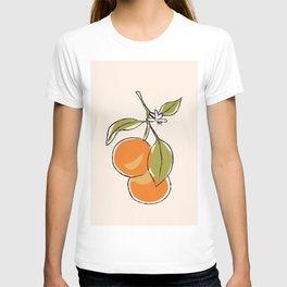 Modern Minimalist Oranges T-shirt