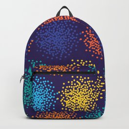 Abstract colorful dotted background Backpack