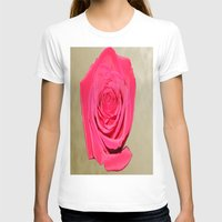 rose gold T-shirts featuring Gold 'n Rose by Twilight Wolf