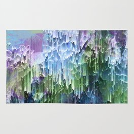 Wild Nature Glitch - Blue, Green, Ultra Violet #nature #homedecor Rug