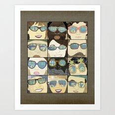 Glasses Vertical Art Print