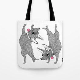 Chihuahua Handstand Tote Bag
