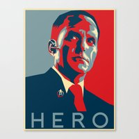 hero Canvas Prints featuring Hero by Skylofts Merch