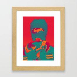 Masked melancholically Framed Art Print