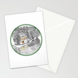 Round Barn Inn, Waitsfield, Vermont near Sugarbush- Zentangle illustration Stationery Cards