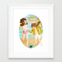 moonrise kingdom Framed Art Prints featuring Moonrise Kingdom by Irena Freitas