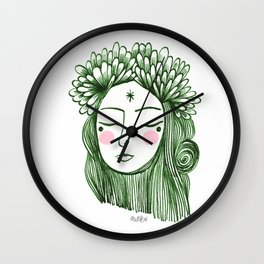 Miss Aster Wall Clock